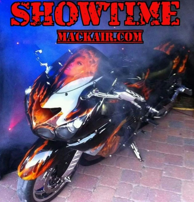 custom motorcycle airbrush and painting,custom auto painting green cove springs fl